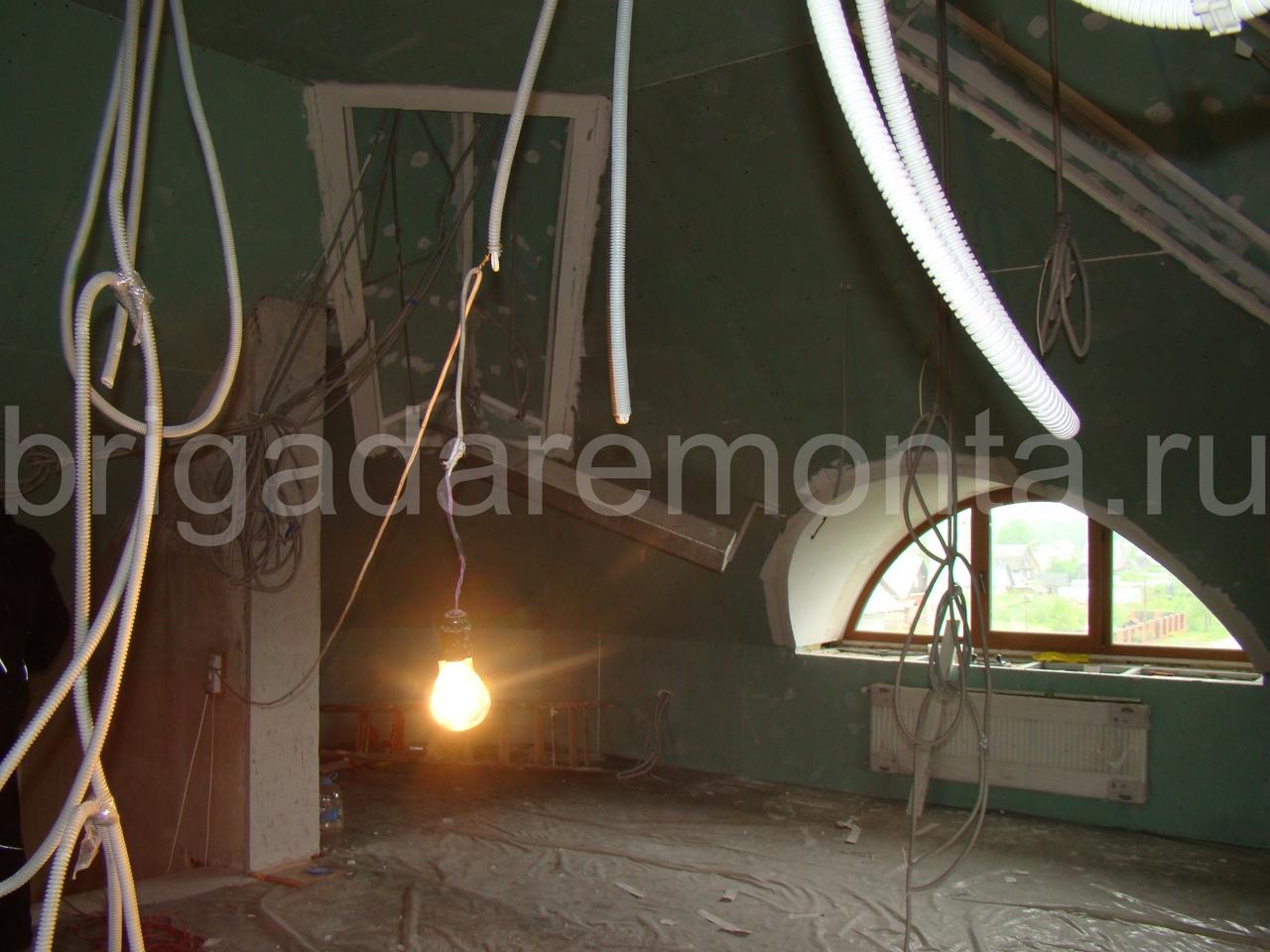 Ремонт электропроводки. Дом,лампочка,провода