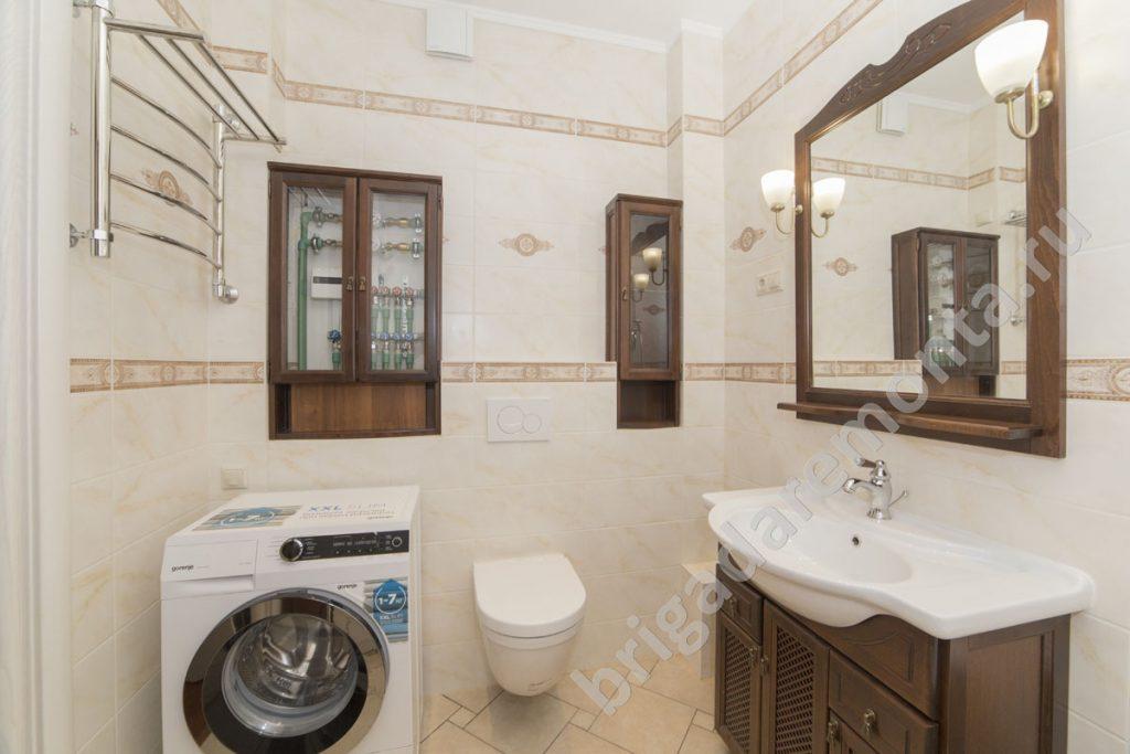 Туалет, стиральаня машина, умывальник, капитальный ремонт