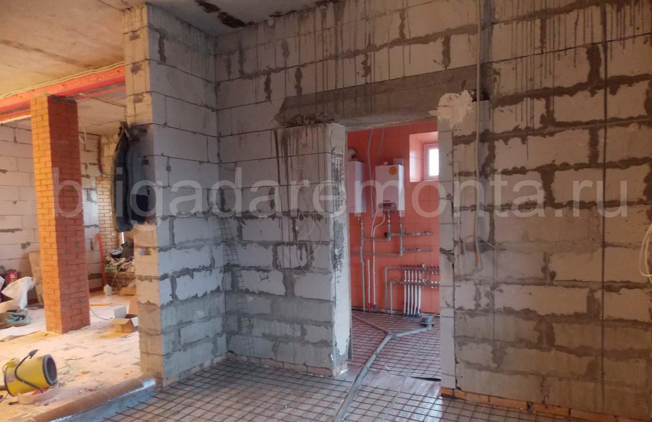 Черновая отделка дома, ремонт дома в Санкт-Петербурге, голые стены