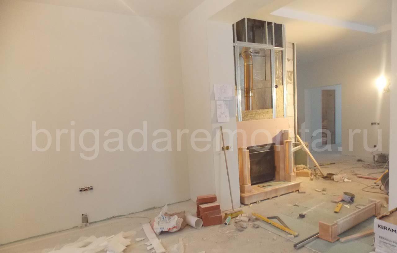 Черновая отделка, ремонт. дома, строительство камина