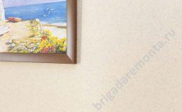 окраска стен краской krastone, теплые тона, розовый оттенок