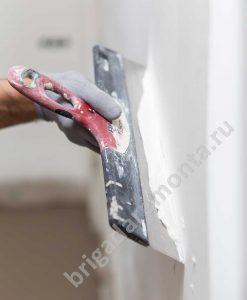 ремонт помещений, шпатлевка, рука мастера