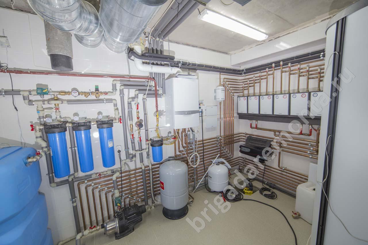 установка фильтров, ремонт в доме, коллектор, ремонтные работы
