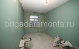 Обшитые стены гипсокартоном,ремонт в кабинете, ремонт комнаты