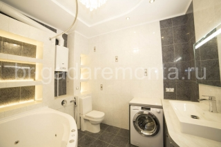 Ремонт уборной в Санкт-Петербурге, установка стиральной машинки в туалете, столешница в ванной