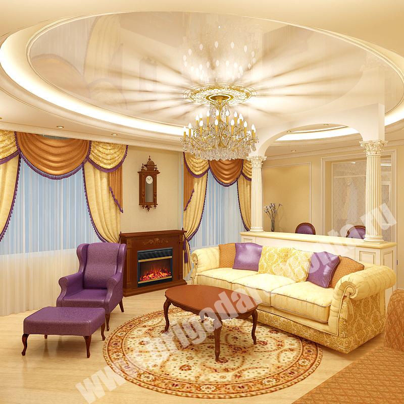 Евроремонт гостиной