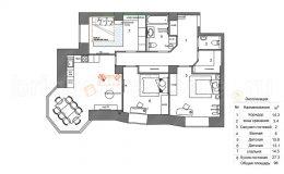 Итоговая планировка ремонта квартиры