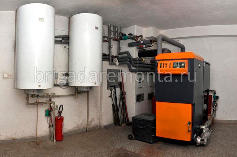 Современная система отопления загородного дома углем