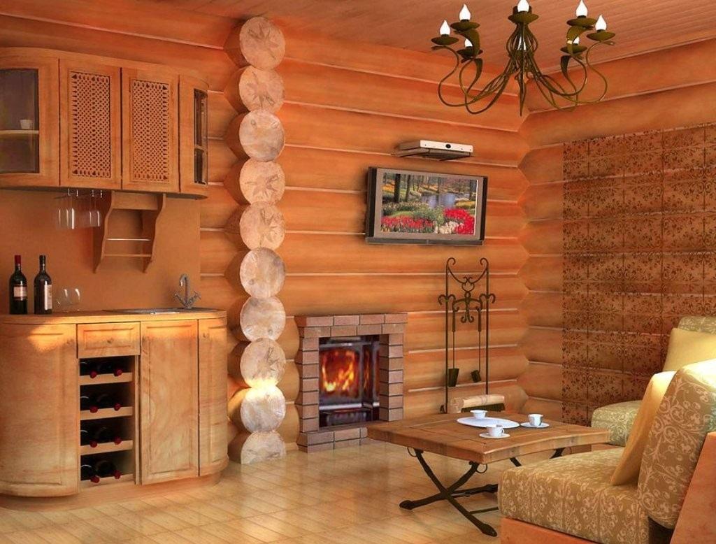 Деревянная отделка дома внутри
