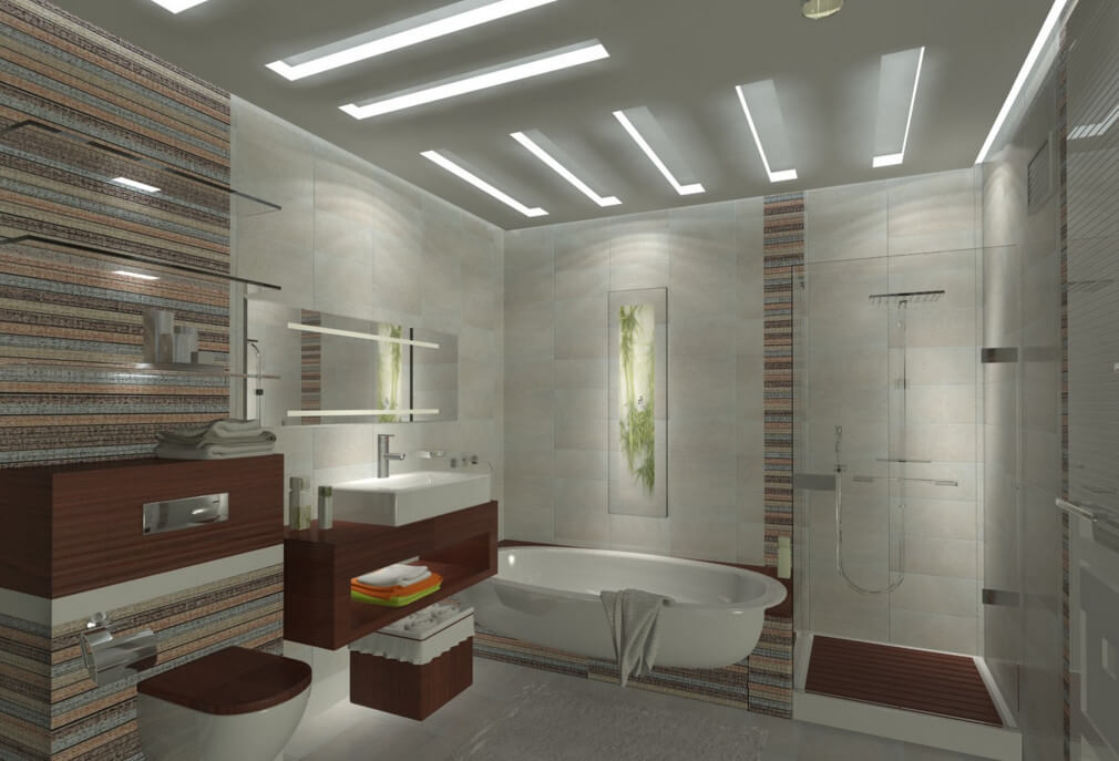 Присоединение части коридора к ванной